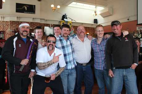 WINNING TEAM: The Plunket Electrical boys took out the title of best team Movember effort at Fat Sally's on Friday night. PHOTO/REBECCA RYAN