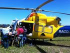RACQ CareFlight transports an injured horse rider to Toowoomba.