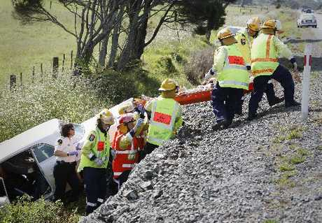 Emergency Service workers at the fatal accident south of Whangarei on Saturday.