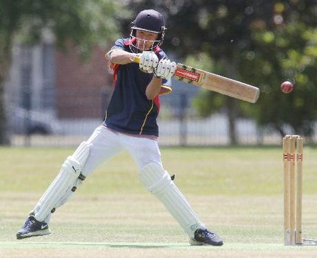 Rotorua Boys' High School batsman Liam Hori-Clarke nicks a ball to the wicketkeeper during his stint at the crease. Although the youngster wasn't able to contribute with the bat, his fielding skills more than made up for it in his side's win over Central at the weekend.