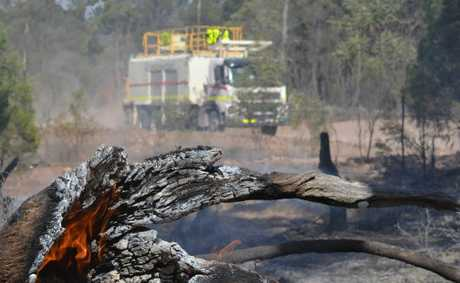 A large bushfire is threatening Miles and surrounding areas. 