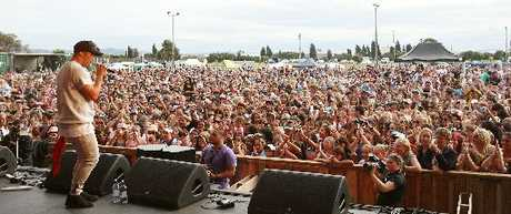 HOME SUPPORT: Pop star Stan Walker performed to a crowd of 8000 at last year's Summerfest.
