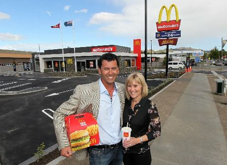 OPEN FOR BUSINESS: Havelock North McDonald&#39;s operators Marcus and Lynette Pohio, pictured at the restaurant&#39;s opening function on Friday. Mr Pohio said he hopes to have a &quot;long and successful relationship&quot; with the Havelock North area. PHOTO/DUNCAN BROWN HBT124549-01