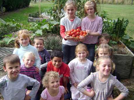 GREEN FINGERS: Students from Tinui School are delighted with the opportunity to enhance their gardening skills.