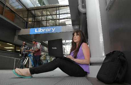 Student Laree Payne is frustrated that the Tauranga Library does not have a wireless internet service.