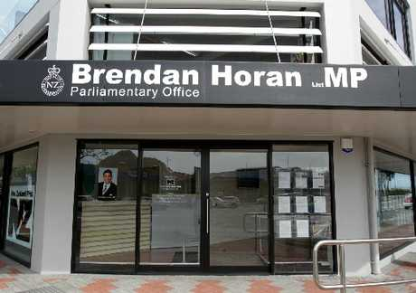The office of local Tauranga List MP Brendan Horan, is closed today.