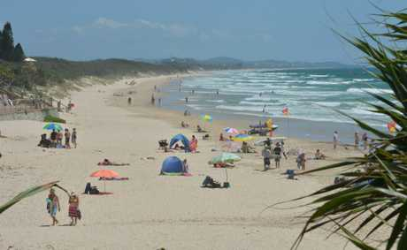 Summer time at  Coolum Beach.