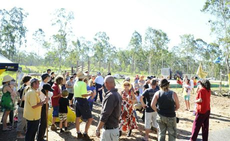 The CSG protest at Glenugie.