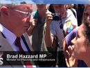 Hazzard departing Lismore CSG meeting