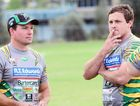 ROOKIE VENTURE: New Ipswich Jets Colts coaches Brendon Lindsay (left) and Adam Boettcher at pre-season training.