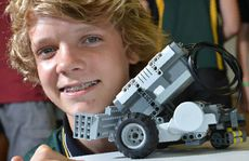Benjamin Korn was part of the team doing the Mars rover challenge with a robotic vehicle yesterday.