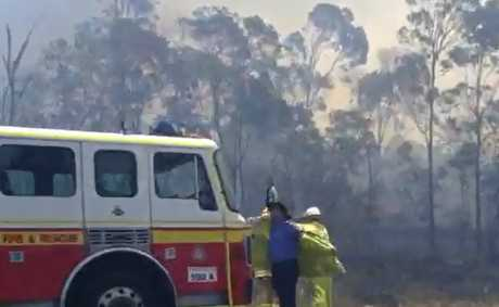 Fire has closed the Bruce Hwy at Burpengary in both directions.