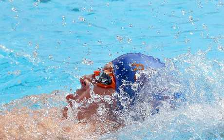 Rotorua swimmer Paddy Baylis shows the form which grabbed him three gold medals at this year's Bay of Plenty junior swim champs. Photo / Stephen Parker
