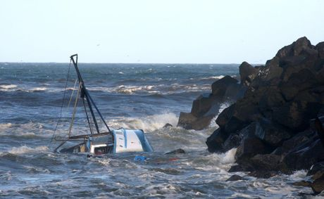 A fishing trawler was lost on the sand bar in February Photo: John Gass / Daily News