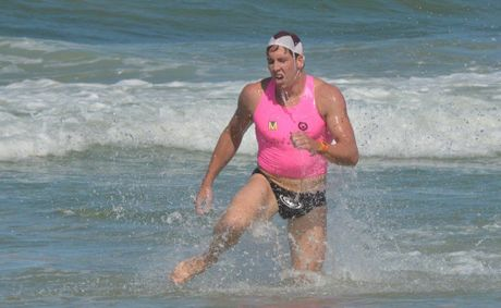 Maroochy Surf Classic Open Men&#39;s winner Mitch Miller. 
