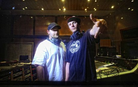 Hip hop artists MC Chut, aka Tim Burton of Grafton and Malachi Corcoran of Waterview wil be perform at the Disco Dirtee 3 event at Grafton High School MPC on December 14. Photo: JoJo Newby