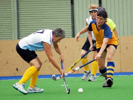 Gloria Weller was on her hockey A-game at the Pan Pacific Masters.