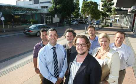 Maroochydore revitalisation Association, President James Birrell (front) with members, Joe Riba and Cheryl Robert (middle), Tiam Whitfield, Wayne McFetridge, Brendan Bryant and Geoff Burchell (back).