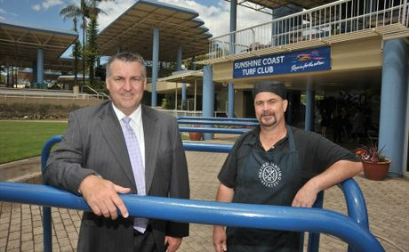 New staff at Sunshine Coast Turf Club, sales and marketing manager Graham Watterston, left, and head chef Darren Westphal.
