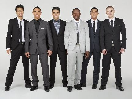 Pictured from left: Shaq, Jordi, Zac, TK, Andrew and Haydn from Titanium are releasing their debut album this week. Photo / File