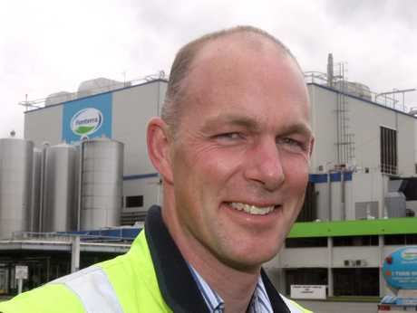 GOOD NEWS: Fonterra Pahiatua site operations manager Bill Boakes outside the plant yesterday.