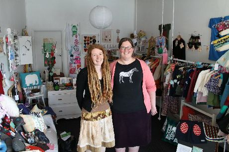 CRAFT MADNESS: Craft Country's Michele Stokes and Emma McCleary at the Featherston store, the organising hub of the annual contemporary craft fair of the same name.