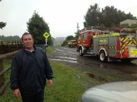 Chris Heywood was lifted up in a tornado in Rotorua yesterday.