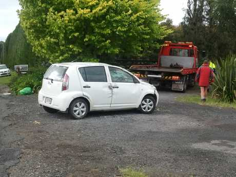 Crash on Youngson Rd, Whakamaramara.