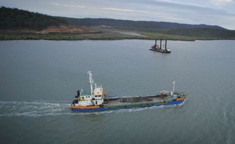 Dredging in the Gladstone Harbour.