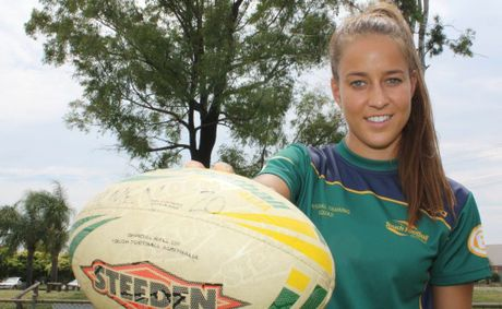 Anna Hicks is set to represent Australia in the 20's girls touch football team.