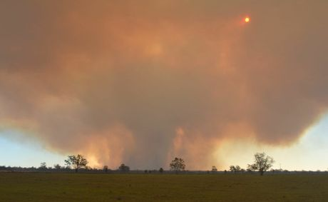A large fire burning south west of Dalby has been brought within its containment lines.