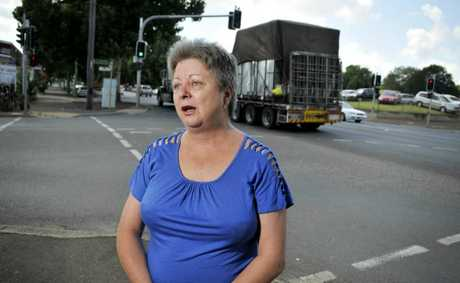 Courier driver and Toowoomba resident Nancy McCulloch is concerned about the number of wide loads passing through the city. Photo Dave Noonan / The Chronicle