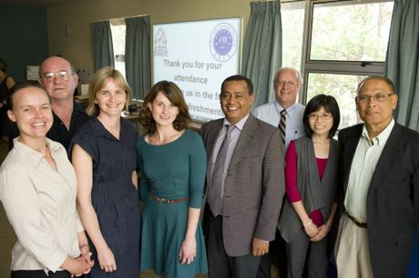 Toowoomba Hospital Foundation research scholarship recipients (from left) Rachel Tosh, Bill Rutkin, Prue Smeaton, Melissa Kaltner, Suratel Alemu, foundation president Ray Taylor and Meiling Chow and Muhammed Haniff Abdul Razak from Pure Land learning College.