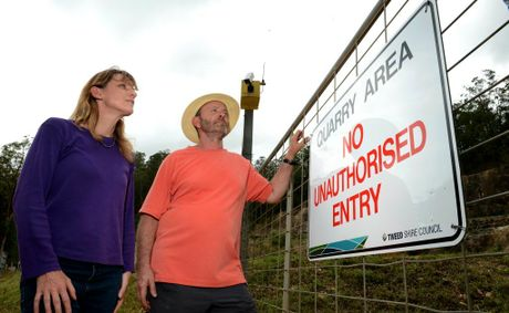Katie Milne and Gary Bagnall at the council quarry.