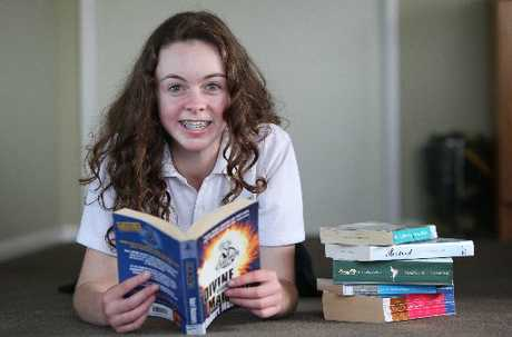 Annie Freeman, 14, has won an award for her innovative idea to encourage teenagers to read.