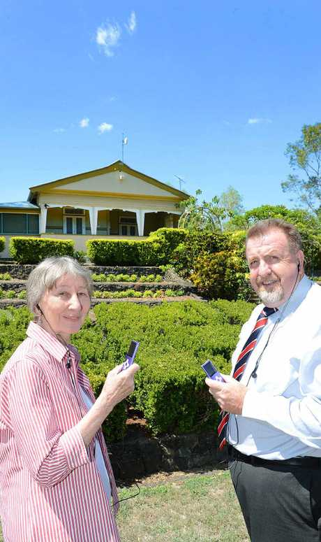 HEARING HISTORY: Historian Robyn Buchanan and Ipswich Planning and Development chairman Paul Tully have launched a Queens Park audio tour covering historic sites around the park.