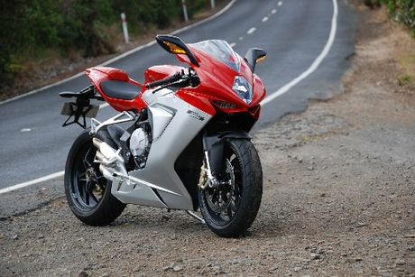 MV Agusta's F3 Sportsbike. Powered by a 3cylinder 675cc