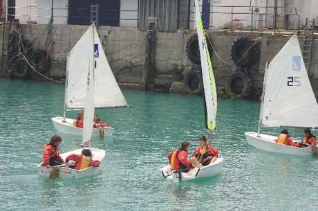 CHALLENGE: Kakanui School students on the water. PHOTO/JAMES FORD