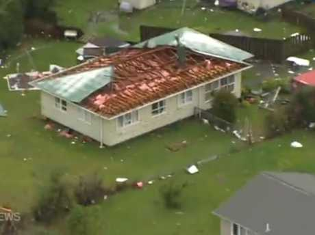 The tornado ripped the roof off this house in Hobsonville.