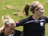 GOAL: Northern Football's Georgia Brown (left) and Kate Seatter will be looking to celebrate more goals during this weekend's ASB Women's League semifinal.