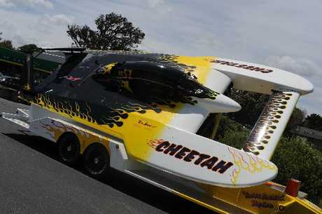 QUICK CAT: Waverley hydroplane driver Ken Lupton&#39;s new hydroplane, Cheetah.PHOTOS/SUPPLIED