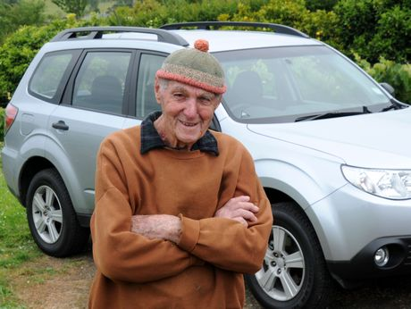 Bob Moorfield is most probably the oldest Subaru driver in New Zealand.