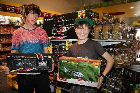 POPULAR: Luke Wallis (left), 16, and Sam Wallis, 11, both from West Melton, 