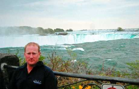 TRAGIC DEATH: Trevor Morris, photographed at Niagara Falls when on holiday.