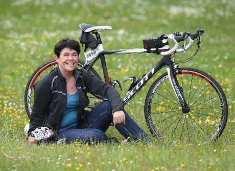 ON TRACK: Donna Guy now enjoys spending time cycling to help keep her fit and healthy.