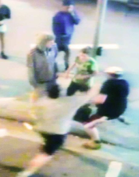 IN PLAIN VIEW: Safe City CCTV footage of a fight in Bell St near the Ipswich Train Station.
