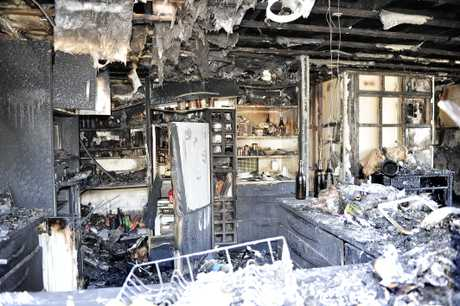 The brand new kitchen of this Papamoa house was destroyed by fire.