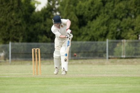 CENTURION: Brendan O&#39;Keeffe bats on his way to making a century for University.