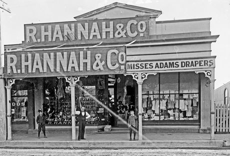 DREAM BIG: The R Hannah & Co store in Hastings St, Napier, apparently had the largest selection of boots and shoes in the district when it opened in 1883. PHOTO/ANONYMOUS