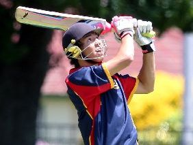 Rotorua Boys&#39; High cricket captain Shaquille Graham shows the form which has given him three half centuries in three innings. Photo / Ben Fraser 